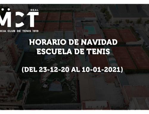 Escuela de Tenis – Horario de Navidad 2020