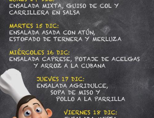 Menú Restaurante RMCT1919 — Semana del 14 al 18 de diciembre