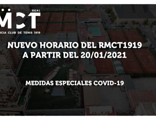 Nuevo Horario del RMCT1919 a partir del 20/01/2021 (Medidas Especiales COVID-19)