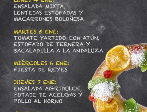 Menú Restaurante RMCT1919 — Semana del 04 al 08 de Enero