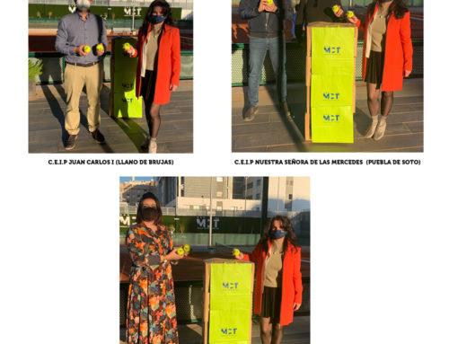 Nueva entrega de pelotas usadas a distintos colegios de nuestro entorno