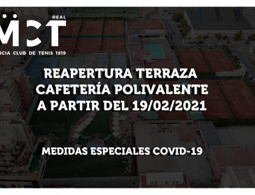 Reapertura de la Terraza de la Cafetería Polivalente  19-2-21
