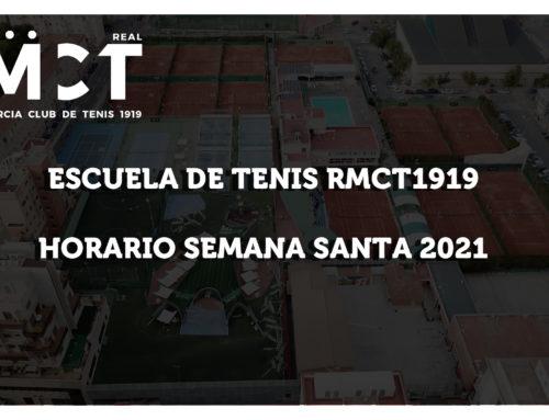 Escuela de Tenis RMCT1919 – Horario Semana Santa 2021