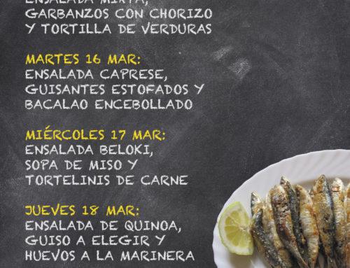Menú Restaurante RMCT1919 — Semana del 15 al 19 de Marzo