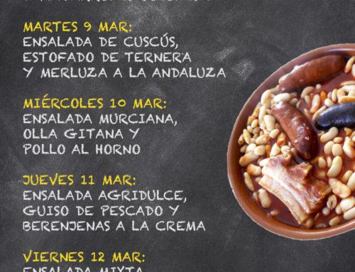 Menú Restaurante RMCT1919 — Semana del 08 al 12 de Marzo
