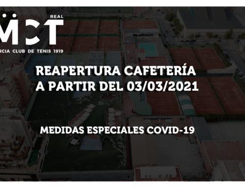 Reapertura de la Cafetería del Club 03-03-2021