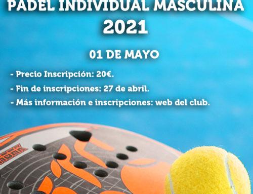 Liga RMCT1919 de Pádel Individual Masculino 2021