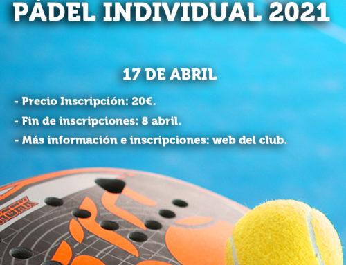 Liga RMCT1919 de Pádel Individual 2021 – (Nivel  4º- 5º)