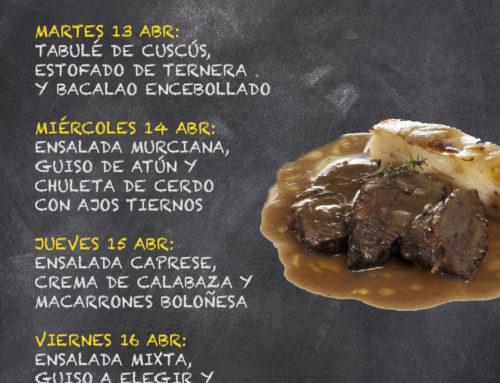 Menú Restaurante RMCT1919 — Semana del 12 al 16 de Abril