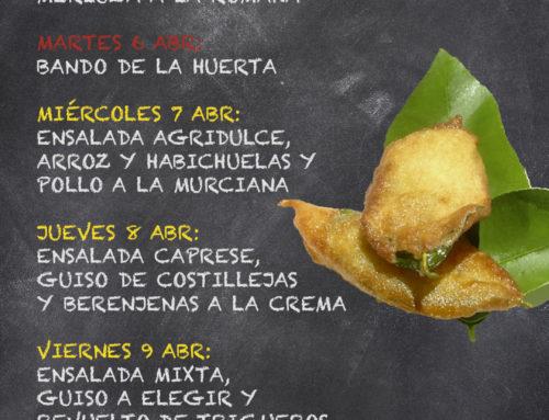 Menú Restaurante RMCT1919 — Semana del 5 al 9 de Abril