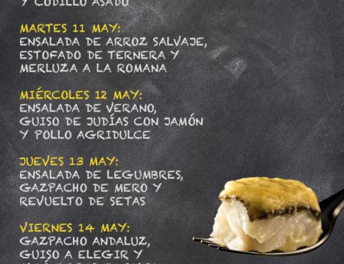 Menú Restaurante RMCT1919 — Semana del 10 al 14 de Mayo