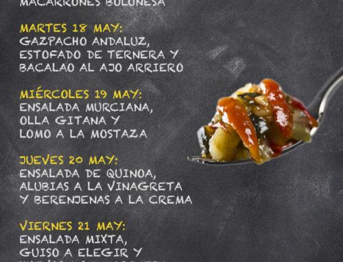 Menú Restaurante RMCT1919 — Semana del 17 al 21 de Mayo