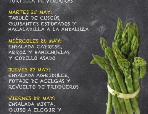 Menú Restaurante RMCT1919 — Semana del 24 al 28 de Mayo