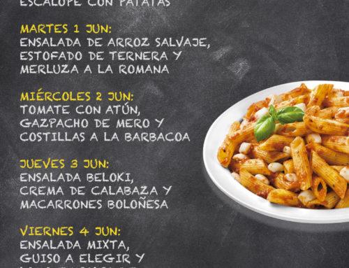 Menú Restaurante RMCT1919 — Semana del 31 de Mayo al 4 de Junio
