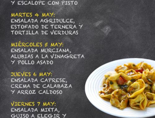 Menú Restaurante RMCT1919 — Semana del 03 al 07 de Mayo