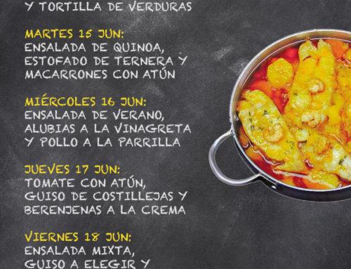 Menú Restaurante RMCT1919 — Semana del 14 al 18 de Junio