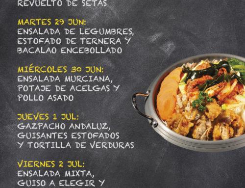 Menú Restaurante RMCT1919 — Semana del 28 de Junio al 2 de Julio