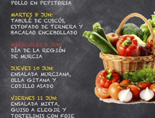 Menú Restaurante RMCT1919 — Semana del 7 al 11 de Junio