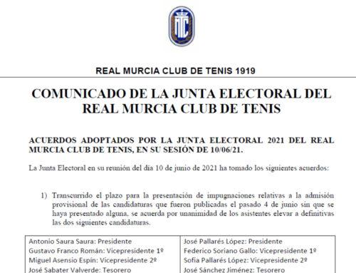 Comunicado Junta Electoral 2021 RMCT1919 — 11/6/2021