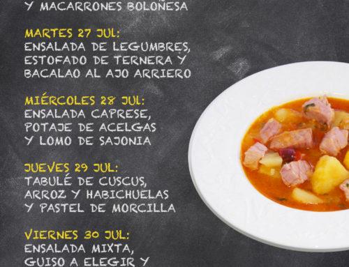 Menú Restaurante RMCT1919 — Semana del 26 al 30 de Julio