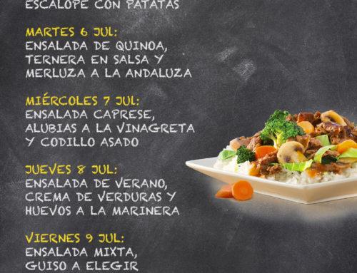 Menú Restaurante RMCT1919 — Semana del 05 al 09 de Julio