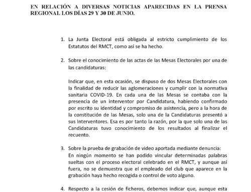 2º Comunicado Junta Electoral 2021 RMCT1919 — 01/07/2021