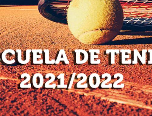 Escuela de Tenis 2021/2022: Abierto plazo de inscripción.