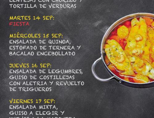 Menú Restaurante RMCT1919 — Semana del 13 al 17 de Septiembre