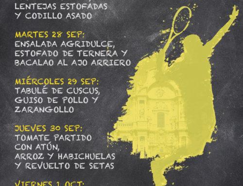 Menú Restaurante RMCT1919 — Semana del 27 de Septiembre al 1 de Octubre