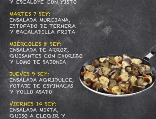 Menú Restaurante RMCT1919 — Semana del 06 al 10 de Septiembre