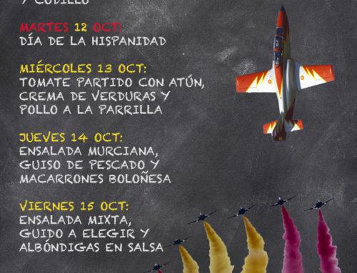 Menú Restaurante RMCT1919 — Semana del 11 al 15 de Octubre