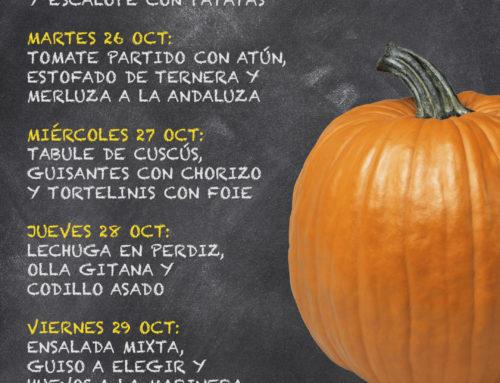 Menú Restaurante RMCT1919 — Semana del 25 al 29 de Octubre