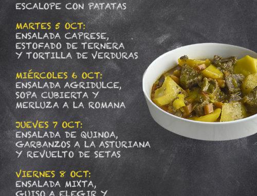 Menú Restaurante RMCT1919 — Semana del 4 al 8 de Octubre