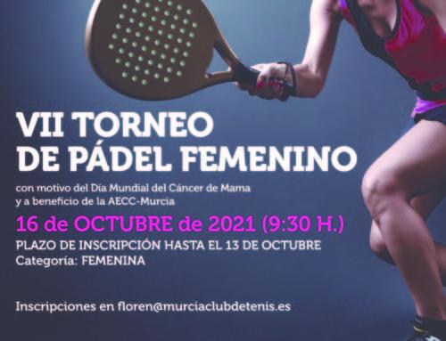 VII Torneo de Pádel Femenino AECC – 16 OCTUBRE – RMCT1919